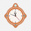 Clock time new year icon, flat style