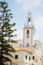 Clock tower in Albufeira, Portugal Royalty Free Stock Image