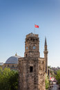 Clock tower in antalya turkey Stock Photography