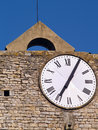 Clock tower in bagnols sur ceze languedoc roussillon france Stock Photos