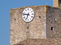 Clock tower in bagnols sur ceze languedoc roussillon france Royalty Free Stock Images