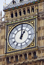 Clock on the tower of big ben in london Stock Photography