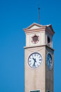 Clock tower with blue sky Royalty Free Stock Image