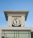 Clock tower in blue sky background Stock Photos