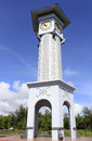 Clock tower with blue sky at sabah malaysia kudat Royalty Free Stock Image
