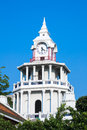 Clock tower with blue sky in thailand Royalty Free Stock Images