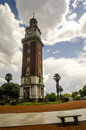 Clock tower buenos aires the englishmen and blue sky argentina Stock Images