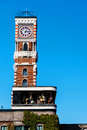 clock tower at Chocolate factory, Sapporo Royalty Free Stock Photo