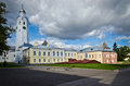 Clock tower and church of saint sergius of radonezh in novgorod russia Royalty Free Stock Photography