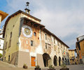 Clock Tower in Clusone - Bergamo Stock Photography