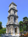 Clock tower in dolmabahce park istanbul Royalty Free Stock Photo