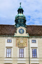 Clock tower in Hofburg Palace Royalty Free Stock Photo