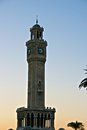 Clock tower izmir the famous of turkey Royalty Free Stock Image