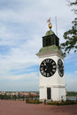 Clock tower in Novi Sad Royalty Free Stock Photo