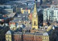 Clock tower and old architecture in liverpool city Royalty Free Stock Photo