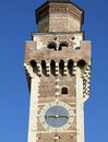 Clock tower of the old church of San Felice in Vicenza Stock Images