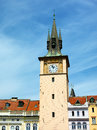 Clock tower in old city prague czech republic Stock Image