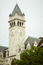 Clock tower at the old post office from in washington dc Stock Image