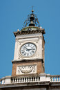Clock tower in Piazza del Popolo, Ravenna Royalty Free Stock Photo