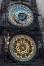 Clock tower prague astronomical in czech republic Stock Image