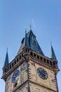 The clock tower in prague czech republic Royalty Free Stock Photos