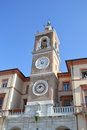 Clock Tower in Rimini (Torre dell` Orologio). Royalty Free Stock Images