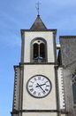 Clock tower of san martino al cimino the cathedral italy Stock Photos