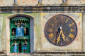 Clock tower sighisoara detail from in transylvania romania Stock Photography