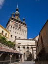 Clock tower sighisoara transylvania romania Stock Image
