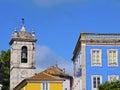 Clock tower in sintra beautiful city near lisbon portugal Royalty Free Stock Photos