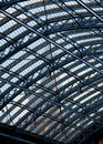 Clock tower St Pancras through roof Royalty Free Stock Photo