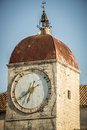 Clock tower, trogir croatia Royalty Free Stock Photo