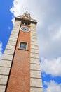 Clock tower in tsim sha tsui hong kong Stock Image