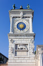 Clock tower in udine historic italy Royalty Free Stock Photos