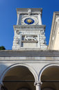 Clock tower in udine historic italy Royalty Free Stock Photography