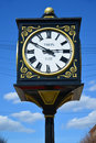 Clock on Trehsvyatskaya street with the indication of the year of foundation of city of Tver, Russia Royalty Free Stock Photo
