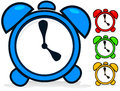 Clock vector cartoon clocks icons Royalty Free Stock Photo