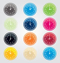 Clock vector illustration of set Stock Photos