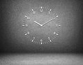 Clock wall isolated on black Royalty Free Stock Images