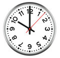 Clock on white Stock Photos