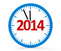 Clock whole modern on white background represents new year three dimensional rendering Stock Photography