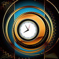 Clocks background Stock Photography