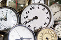 Clocks background Stock Photo