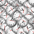 Clocks in bubbles - deadlines and time management concept Royalty Free Stock Photo