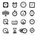 Clocks Icons. Vector Illustrat...