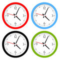 Clocks set isolated on white Royalty Free Stock Image