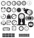 Clocks, time icons set Stock Photo