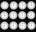 Clocks time with isolated background Stock Image