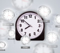 Clocks and time zones over the world concept illustration Royalty Free Stock Photo