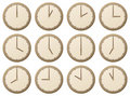 Clocks / vector illustration Stock Photo